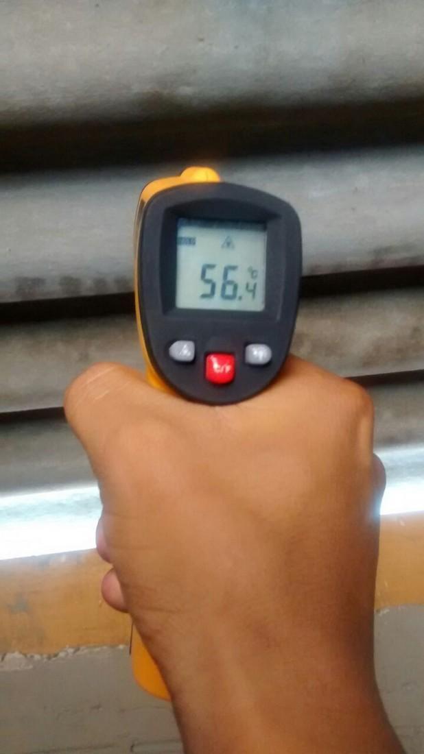 Temperatura antes da aplicação da manta