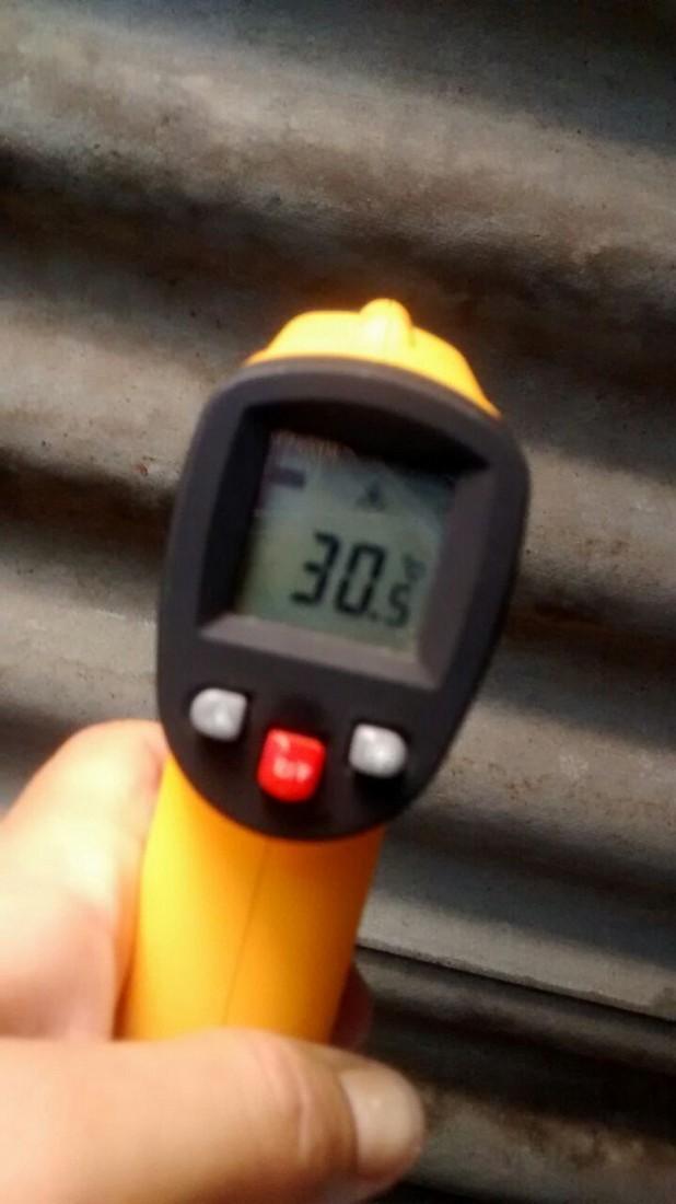 Temperatura depois da aplicação da manta