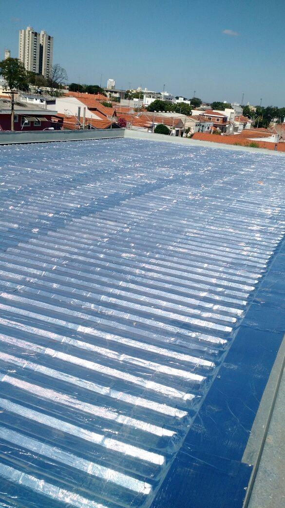 Impermeabilização de Telhado com manta Asfáltica Alumínio