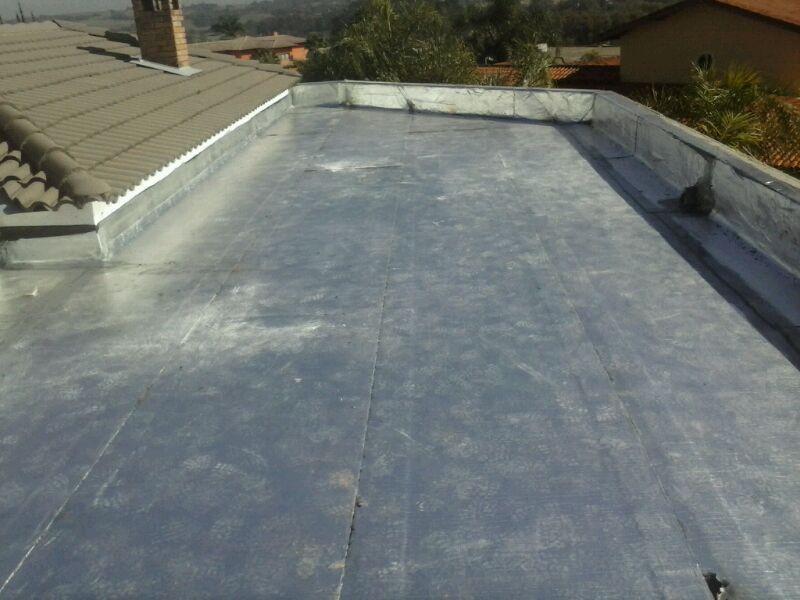 Impermeabilização de Laje com Manta Asfáltica Alumínio