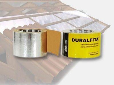 Fita Adesiva Duralfoil para manta  de telhado Duralfita 48mmx25m Gib do Brasil